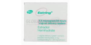 Estring Vaginal Ring (Estradiol Hemihydrate) 2mg, 1 Ring