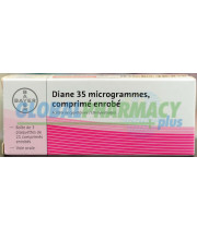 Diane-35 Brand Name - 3 Month Supply (3 x 21 day Packs)