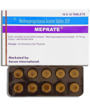 Medroxyprogesterone Acetate (Provera) 10mg, 100 Tabs