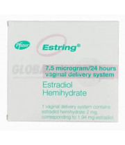 Estring Vaginal Ring (Estradiol Hemihydrate) 2mg, 1 Ring