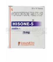 Hydrocortisone (Cortef) 5mg, 100 Tabs